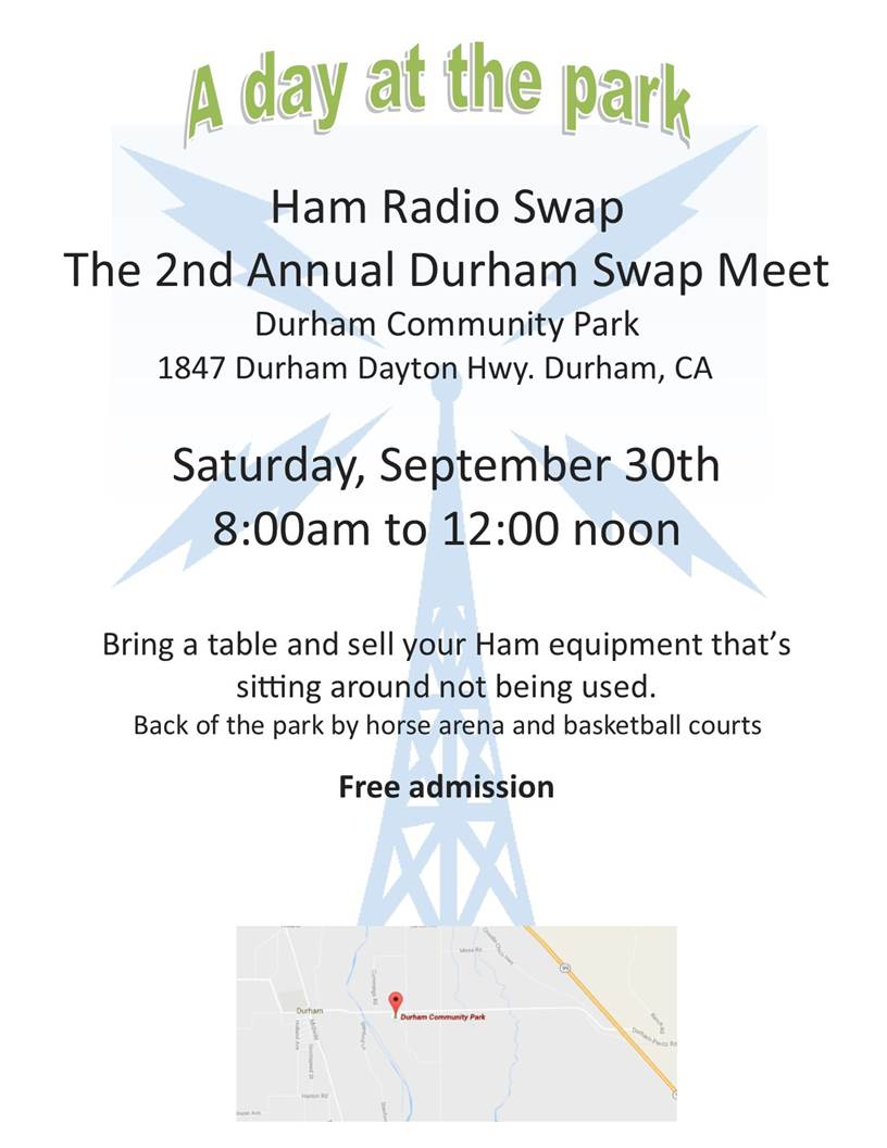 Arrl sacramento valley section also there is a ham swap in durham california on saturday sept 30 2017 0800am xflitez Image collections